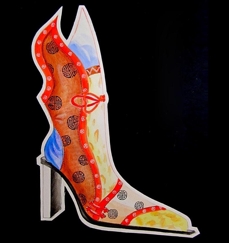 中国风女靴