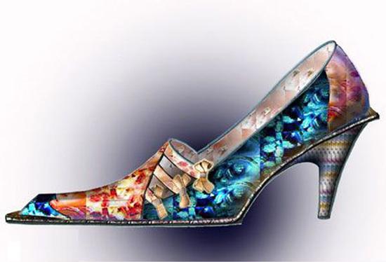 最时尚女单鞋效果图
