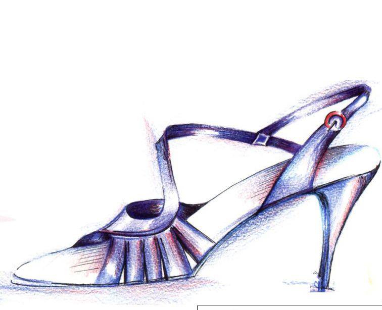 女士凉鞋手稿