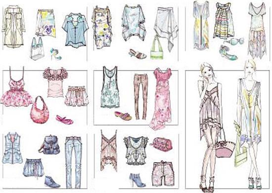 2011春夏服装色彩及款式流行预测图片