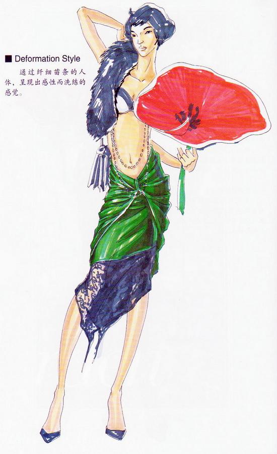 服装画技法教程_时装画技法实用教程---各种设计的着装画3-设计家园-世界服装 ...