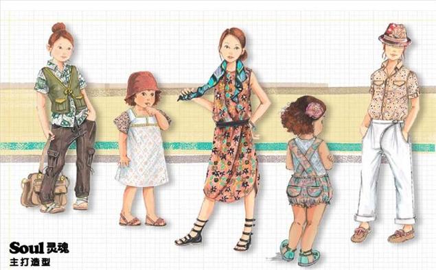 怪叛逆的童装系列   虎牙效果图(手绘)-童装设计-服装设计