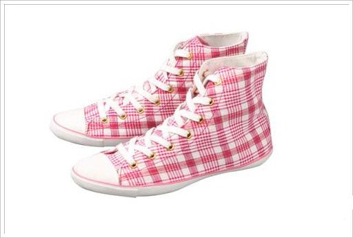 Converse 夏季2010流行鞋款恋上格子-世界服装