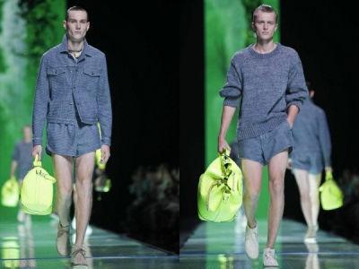 紧接着,几款牛仔短裤也很有态度.首先是两条宽松款式的短