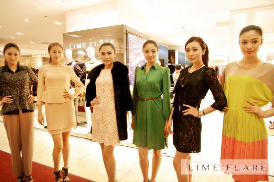 模特儿完美演绎莱茵福莱尔lime flare秋冬最新服装高清图片
