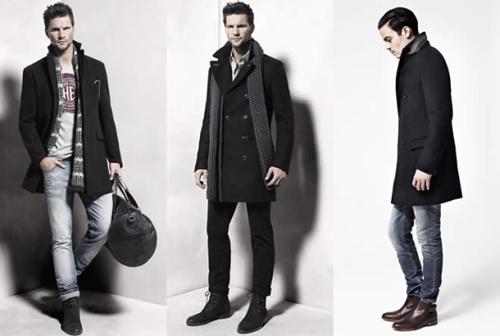男士中长大衣搭配法则