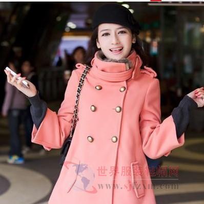 2013最流行的冬装韩版呢子大衣时尚经典最讨喜高清图片