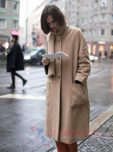欧美街拍 8款驼色大衣时尚搭配