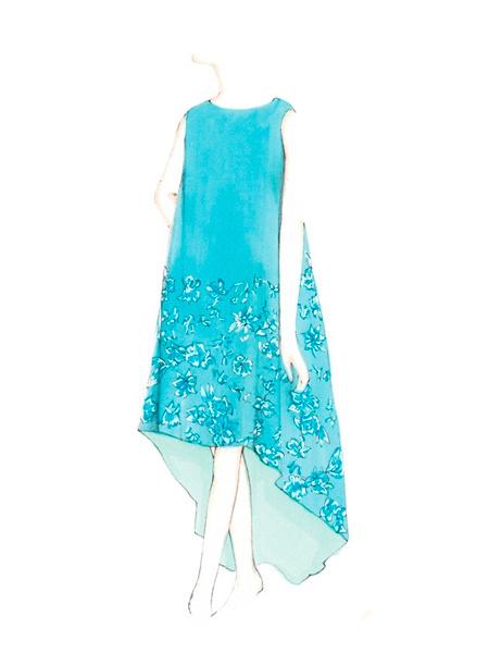 晚礼服设计图手稿素描图片 晚礼服设计图手稿,晚礼服设计图
